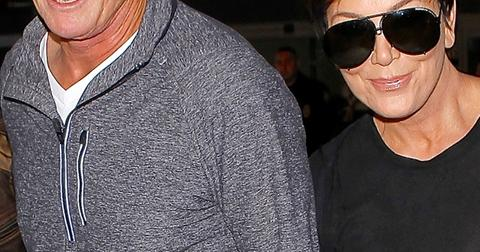 Kris and Bruce Jenner hold hands at LAX