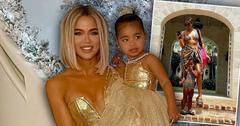 Khloe Kardashian and True Thompson Twinning