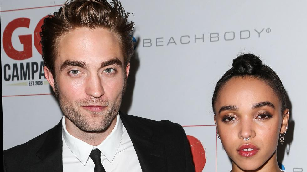 Robert Pattinson and girlfriend FKA twigs arrive at the 8th Annual GO Campaign Gala