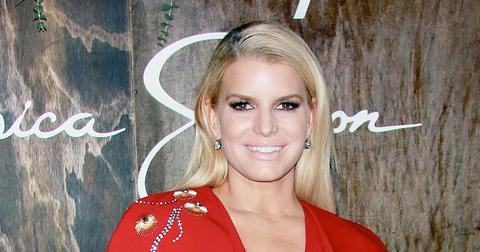 Jessica Simpson Wearing Red
