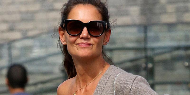 Katie Holmes Shows Some Skin Outing Daughter Suri NYC