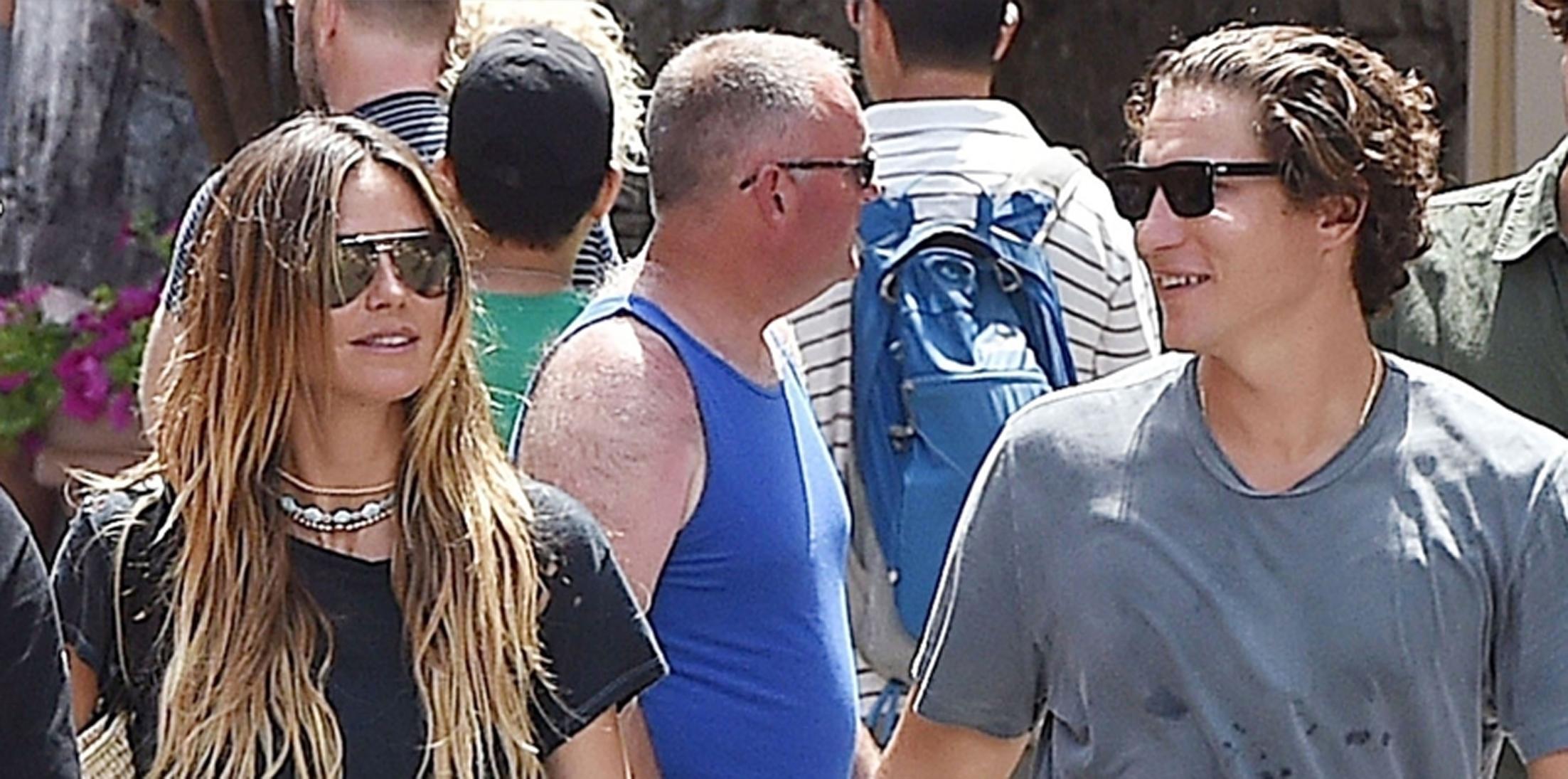 *EXCLUSIVE* German Supermodel Heidi Klum and boyfriend Vito Schnabel enjoy some down time in Portofino