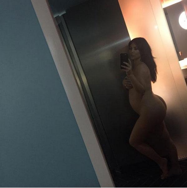 Kim kardashian naked pregnant nude baby bump