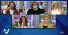 whoopi goldberg tells joy behar mic in breasts the view segment pf