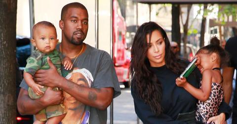 Kim kardashian kanye west fighting saint west birthday 01