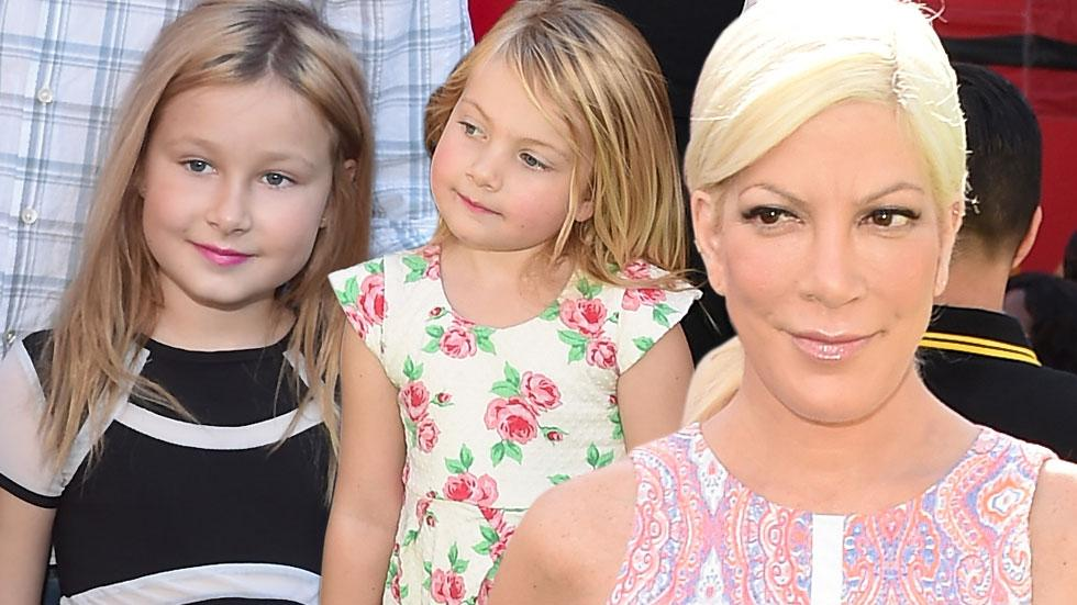 Tori spelling young daughters make up