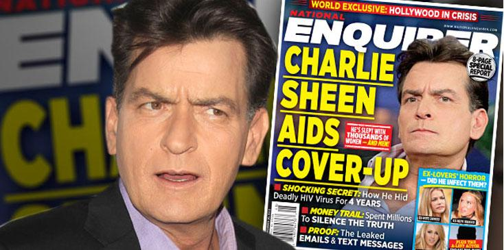 Charlie sheen hiv positive exposed national enquirer investigates ok wide
