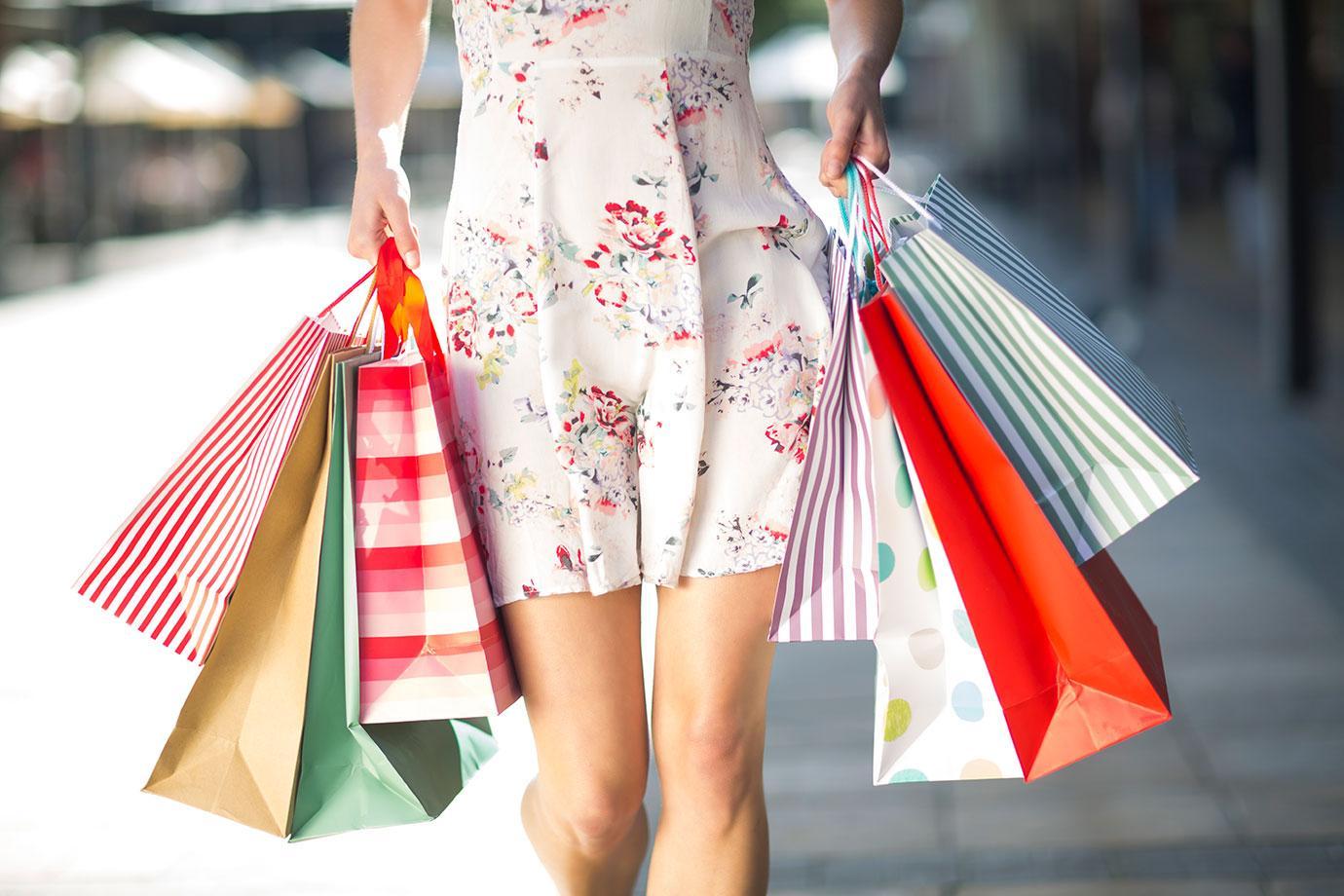 Woman on Shopping Spree