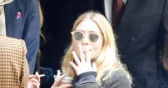 Mary kate ashley olsen smoking NYFW wide