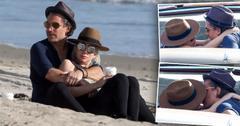 Lady gaga boyfriend christian carino pack on pda beach