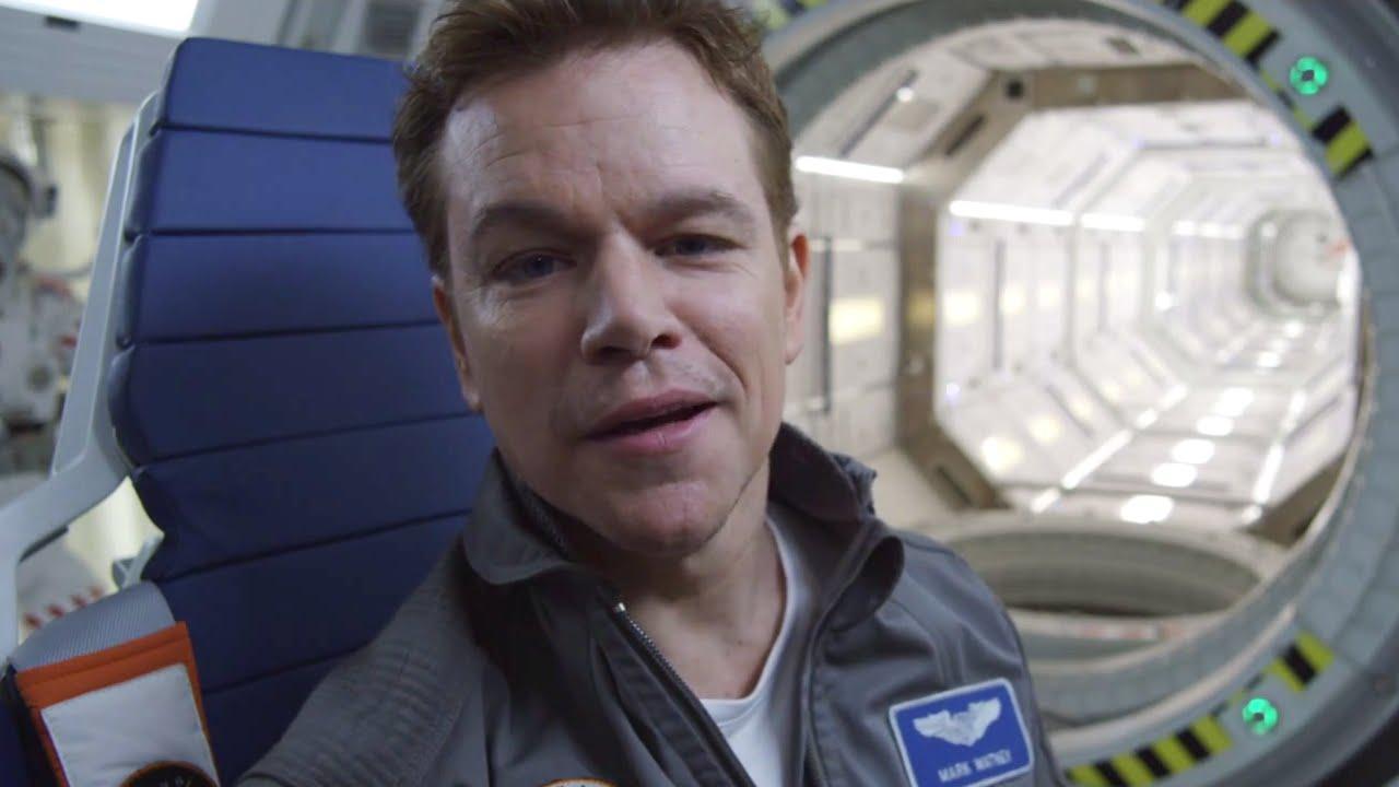 Matt Damon Jokes On The Martian Set