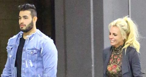 *EXCLUSIVE* Britney Spears has a romantic dinner with her new boyfriend Sam Asghari **NO WEB, WEB EMBARGO UNTIL 11PM PST ON 12/19/16**