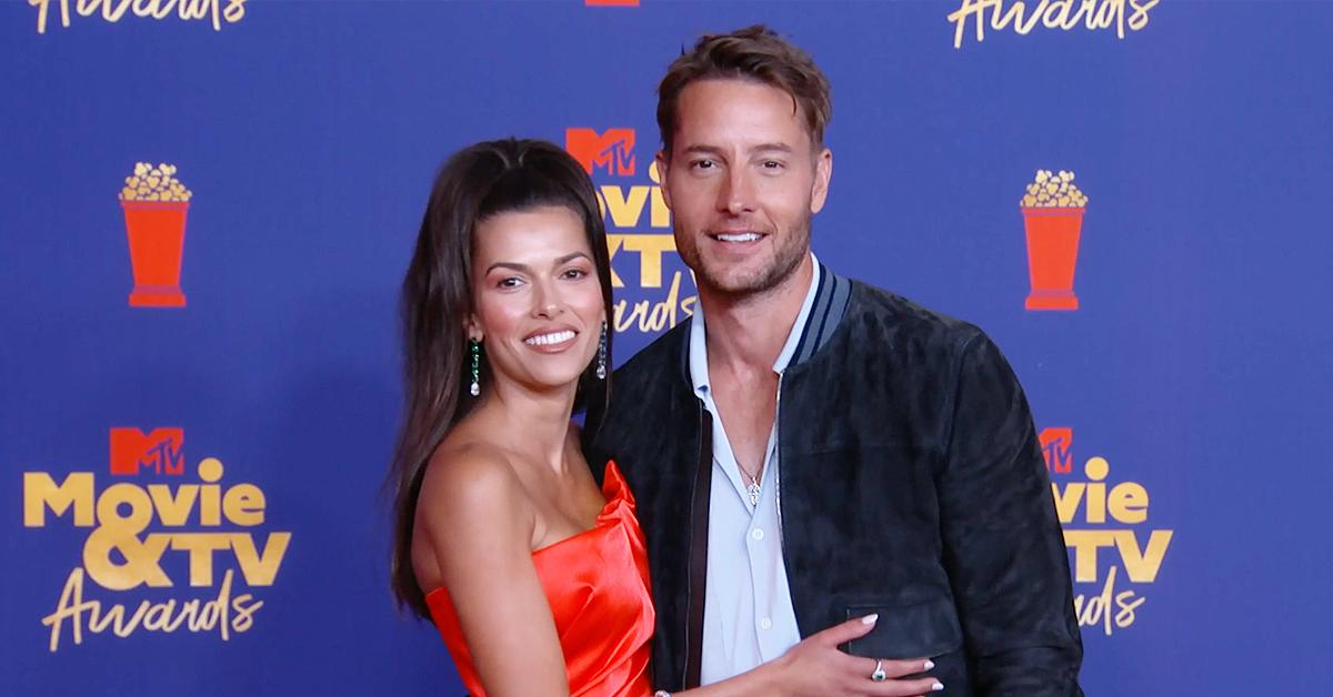justin hartley sofia pernas spotted wearing matching rings mtv movie tv awards red carpet