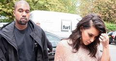 Kim and Kanye arrive at the Vogue Festival in London
