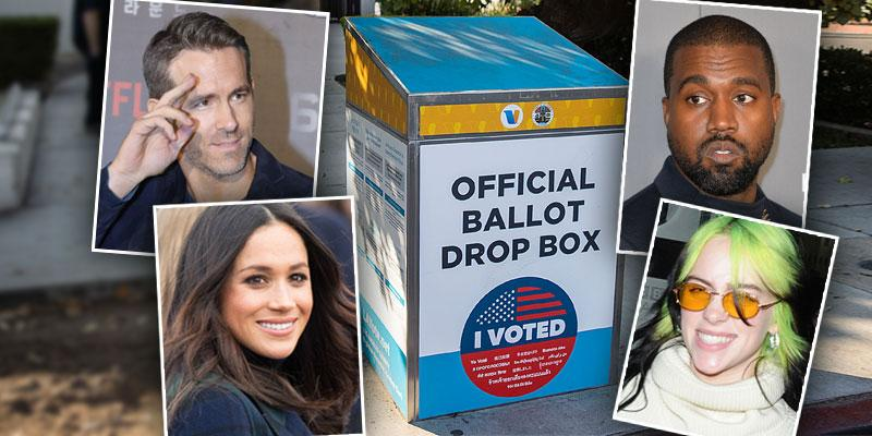 See Which Celebrities Voted For The First Time In 2020 U.S. Election