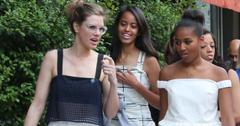 Sasha Obama, Malia Obama XY out and about in Corso Como Milano