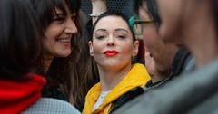 Celebrity Sightings Rose McGowan, Asia Argento In Rome – March 8, 2018