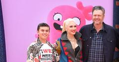 Gwen Stefani All Smiles With Blake Shelton and Kingston