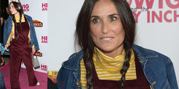 Demi moore ugly clothes hedwig opening night