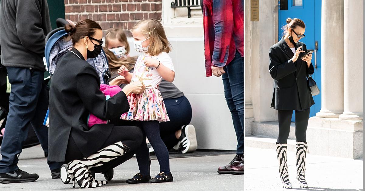 irina shayk and daughter lea cooper sighting in nyc ok