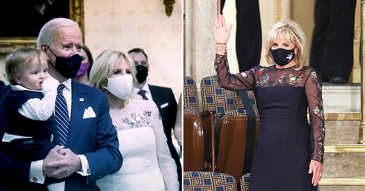 first lady jill biden wears the same dress for joint address as she did on inauguration night ok