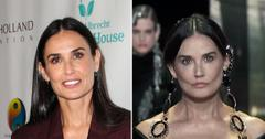 demi moore plastic surgery paris fashion week look has experts talking pf