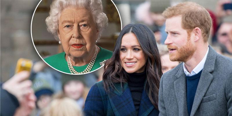prince harry meghan markle queen elizabeth inset