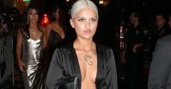 Amina Blue seen arriving at the Harper's Bazaar's celebration at The Plaza Hotel in New York City