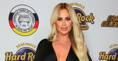 Kim Zolciak Wearing a Black Dress on a Red Carpet