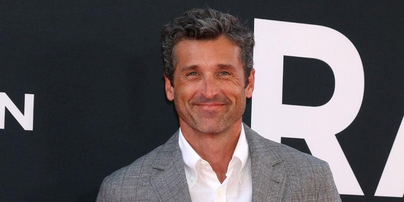 Smiking Patrick Dempsey Wearing Gray Suit with White SHirt