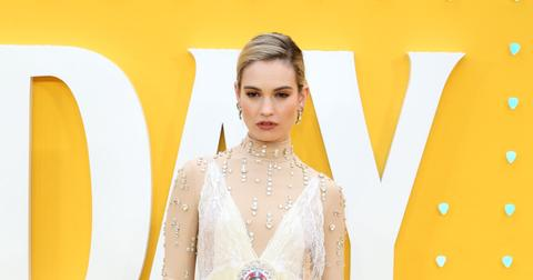 Lily James at the 'Yesterday' UK film premiere in London