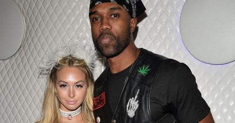 Corinne Olympios and DeMario Jackson Arrive to The Maxim Halloween Party Together
