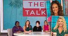 Sheryl Underwood, Carrie Ann Inaba, Sharon Osbourne, Eve, Insets of Elaine Welteroth and Amanda Kloots; 'The Talk' Names [Amanda Kloots] And [Elaine Welteroth] As New Co-Hosts