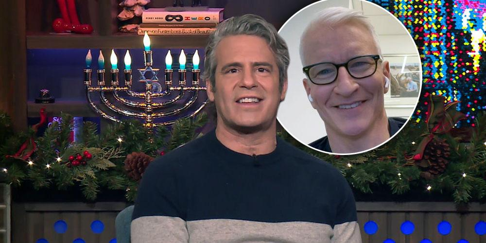 Andy Reveals He Is Part Of The Mile-High Club Inset of Anderson Cooper