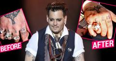 Johnny drop divorce Amber heard knuckle tattoo ok hero