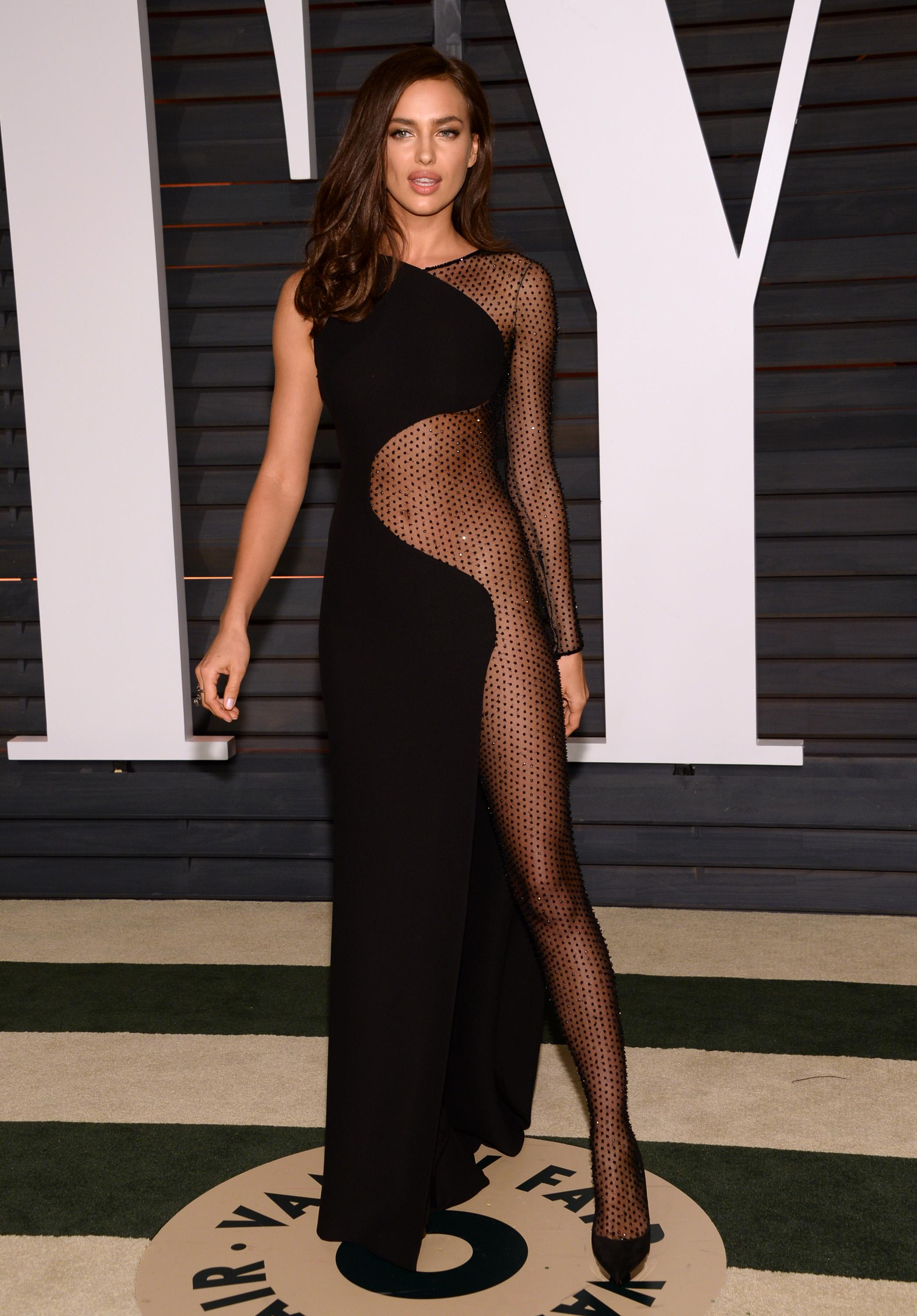 Naked fishnet dress Dare To Bare The Most Naked Oscars After Party Dresses