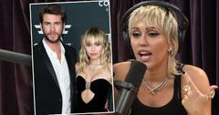Inset of Liam and Miley,Miley Cyrus on Joe Rogan Podcast