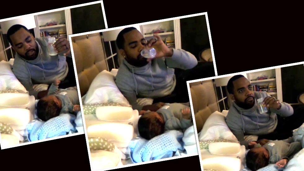 Todd Tucker Drinks Kandi Burruss Breast Milk