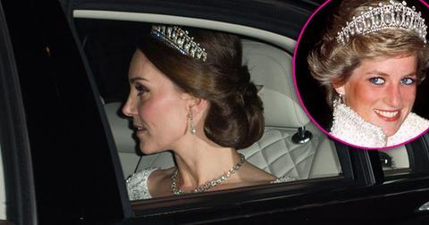 kate middleton wears princess dianas favorite tiara palace pics pp