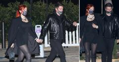 bella thorne and fiance benjamin mascolo walk hand in hand nobu malibu pf