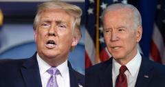 Donald Trump on Left Joe Biden on right