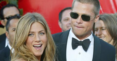 Brad Pitt and Jennifer Aniston at the 2004 Emmys