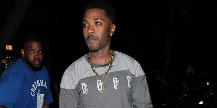 Ray J buying hotdogs at Hooray Henry's in West Hollywood