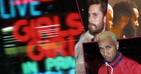 Tyga scott disick chris brown strip club photos