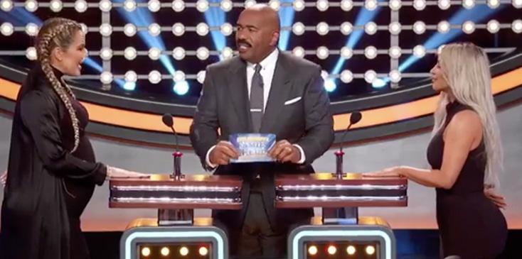 Kardashians jenners wests family feud video