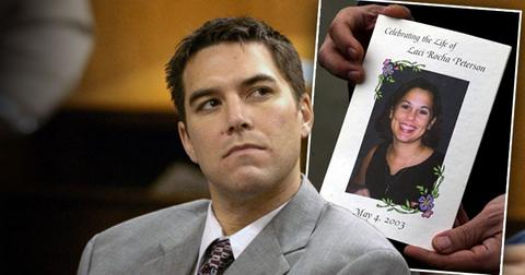 Scott Peterson in Court in @004, Inset of Murdered Wife Laci Peterson