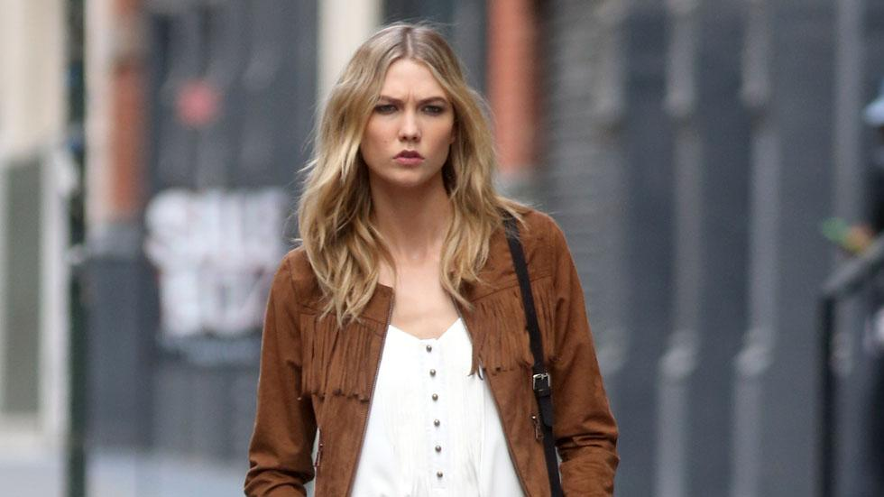 Karlie Kloss seen on a photo shoot in New York, NYC