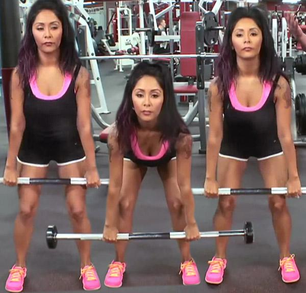 Snooki workout video 1