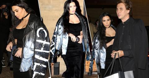 kim kardashian post baby body boobs dress jacket