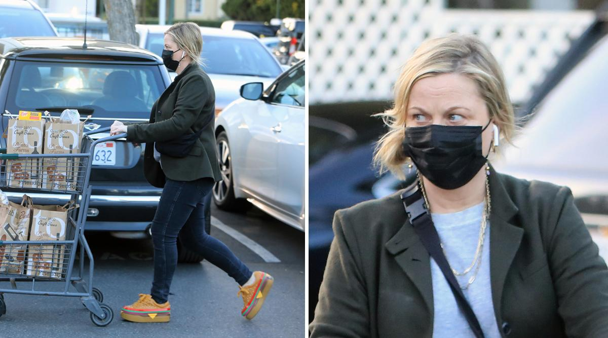 amy poehler cheeseburger sneakers photos pf